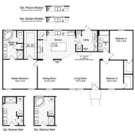 the harbor house ftp360m6 home floor plan manufactured