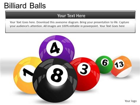 powerpoint templates numbers free billiard ball colors and numbers images