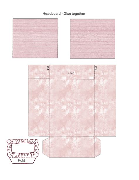 pillow headboard bedroom set pink bed headboard pillow doll houses and furniture
