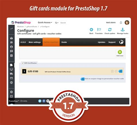 Sell Gift Cards - gift card certificate sell voucher codes prestashop