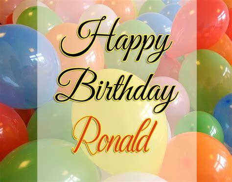 image happy happy birthday ronald