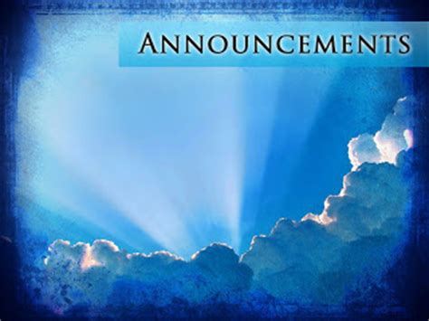 July 2009 Sharefaith Magazine Church Announcements Template Powerpoint