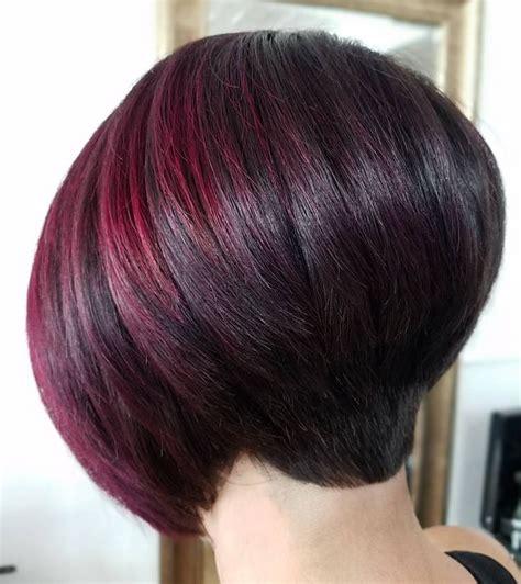 gradually stacked haircut 497 mejores im 225 genes de wedge hairstyles stacked en