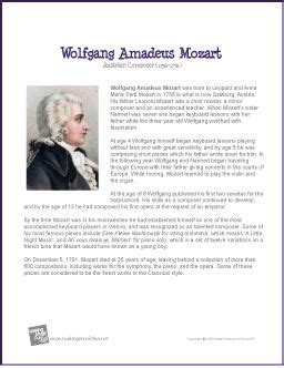 biography for mozart wolfgang amadeus mozart printable biography beautiful