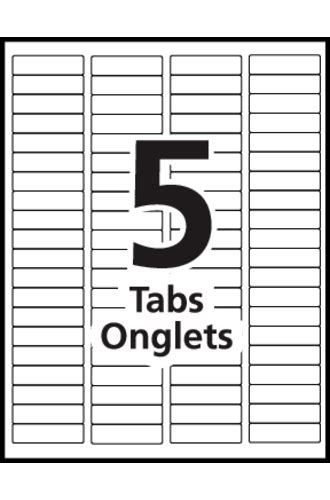 avery 174 index maker dividers 5 tab 11418 template