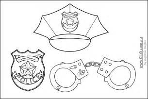 printable policeman hats to color police themed birthday