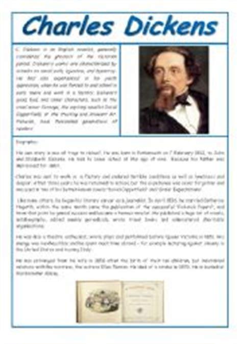 charles dickens biography lesson plan intermediate esl worksheets charles dickens