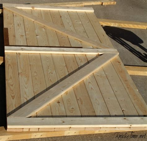 Our Diy Barn Door Knick Of Time Build A Barn Door Plans