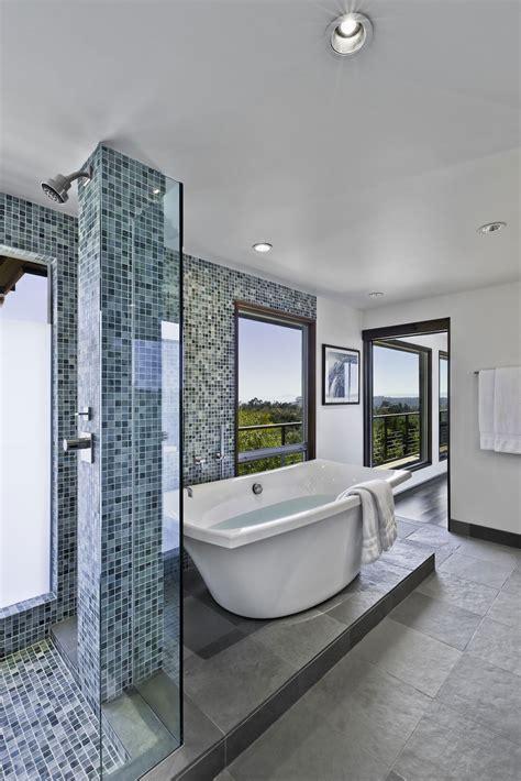 California Bathroom by Shower Bath Bathroom Mid Century Modern Home In Santa