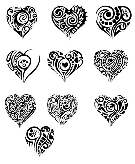 tribal love heart tattoos best 25 tribal tattoos ideas on tribal