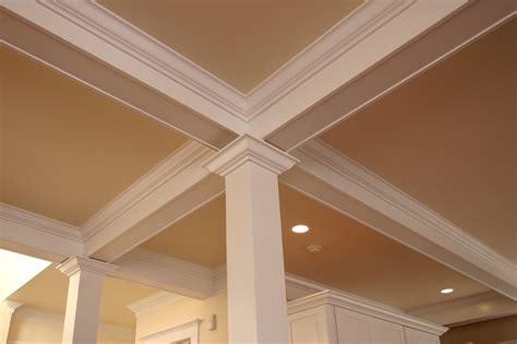 beams in ceiling use false beams to add ceiling detail