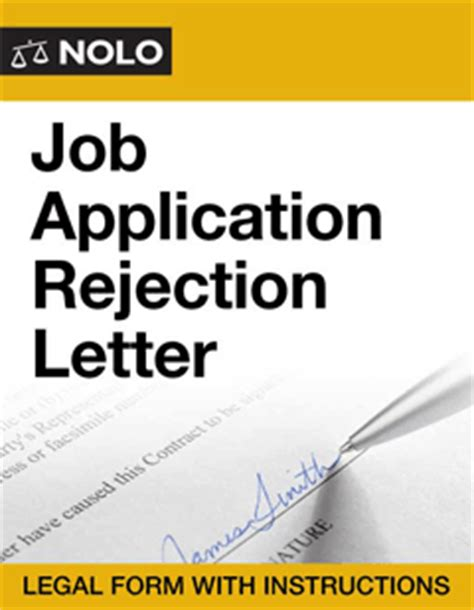 Rejection Letter Hired Someone Else Applicant Rejection Letter Form Nolo