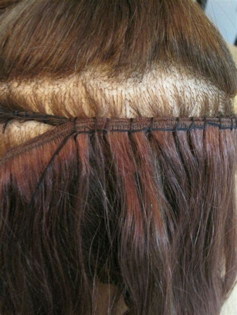 sewing in hair extensions at home sew in braidless sew in weave pinterest sew