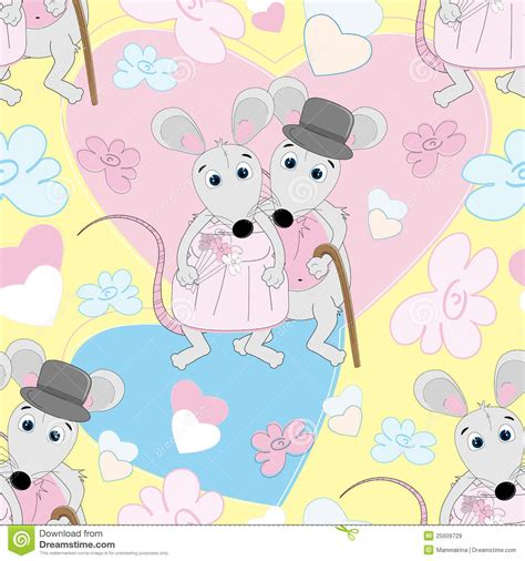 cute mouse pattern cute mouse seamless pattern royalty free stock images