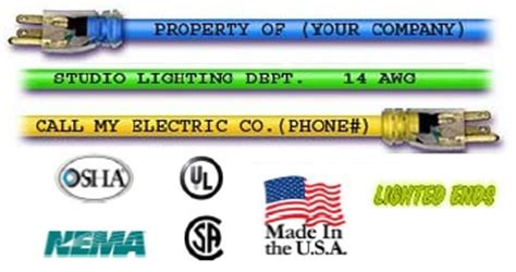 colored extension cords greentech power extension cord custom printed 50 foot 12