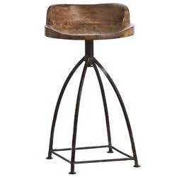 salome industrial stainless steel cashew leather counter designer chairs eclectic chairs kathy kuo home