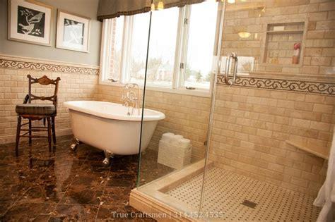 travertine marble bathroom beveled durango travertine with emperador dark marble traditional bathroom st