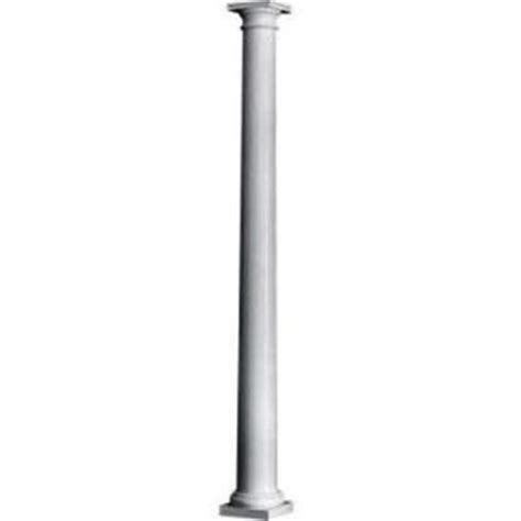 decorative columns home depot hb g 8 in x 8 ft composite round column 659822 the home depot