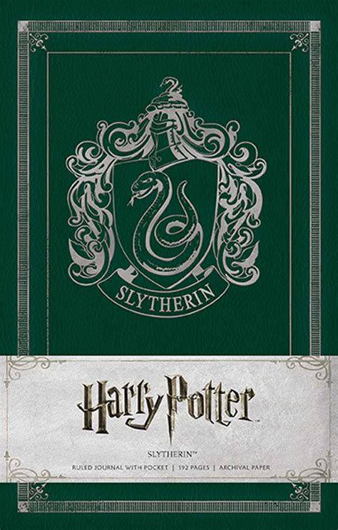 harry potter hogwarts ruled notebook books harry potter slytherin hardcover ruled journal book by