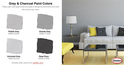 colors that go with dark grey grey charcoal paint colors