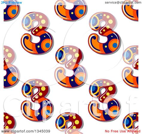number pattern clipart clipart of a seamless background pattern of decorative