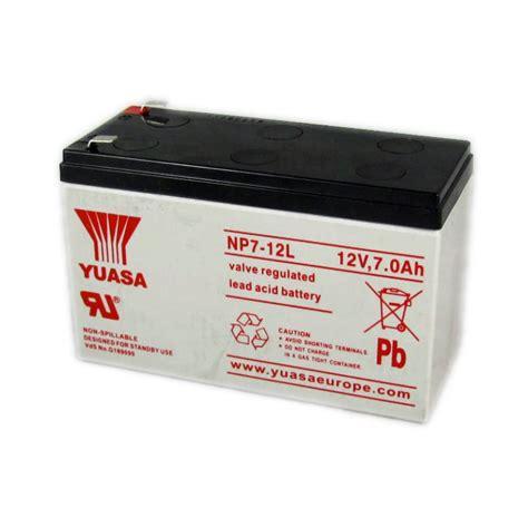 12 Volt L by Yuasa Np7 12l Large Terminal Vrla 12 Volt 7 0ah Battery
