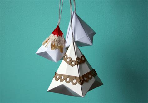 How To Make Ornaments With Paper - diy ornaments and d 233 cor