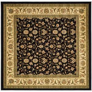 Square Area Rugs Safavieh Lyndhurst Black Ivory 8 Ft X 8 Ft Square Area Rug Lnh316b 8sq The Home Depot