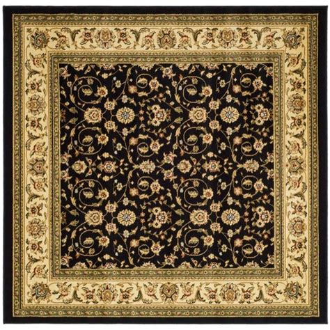 8 square area rug safavieh lyndhurst black ivory 8 ft x 8 ft square area rug lnh316b 8sq the home depot