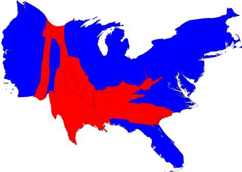 us map with and blue states election maps