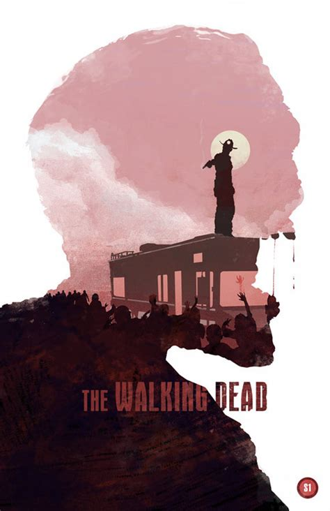 design is dead the walking dead zombie movie poster design by michael