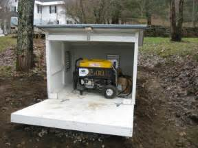 portable generator shed