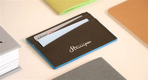 The Cardholder classic leather cardholder collection striiiipes