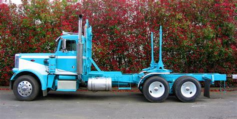 blue logging truck pacific truck colors