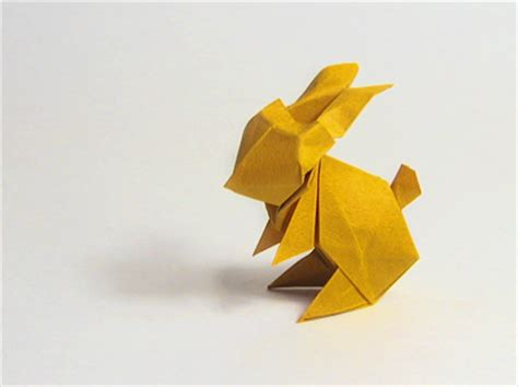 Bunny Origami - make an origami easter bunny how about orange
