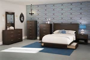 south shore contemporary bedroom furniture set with wooden