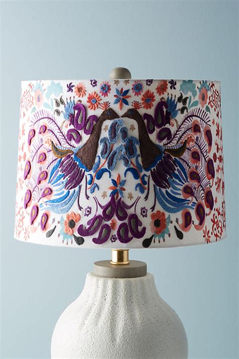 Anthropologie L Shade by Peacock Badia Embroidered L Shade Anthropologie
