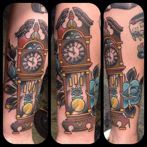 grandfather clock tattoo grandfather clock chest www pixshark images