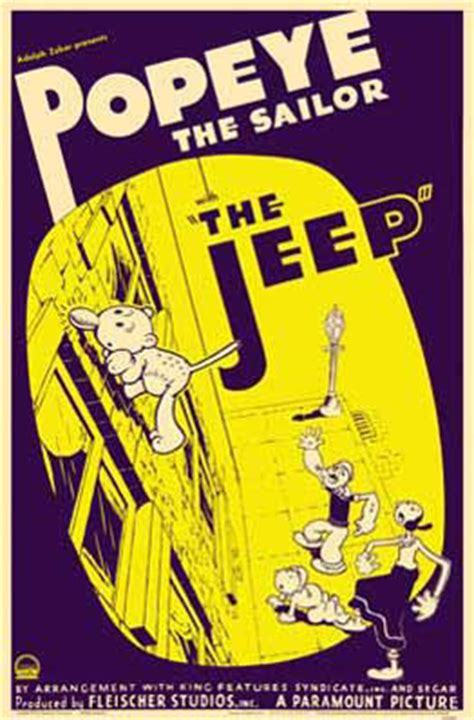 Popeye Jeep Popeye The Sailor With The Jeep Popeye The Sailorpedia