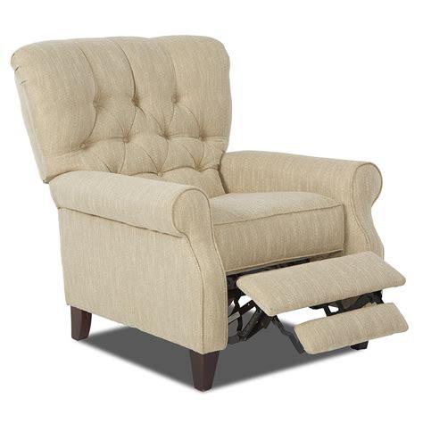 high leg recliner klaussner strand 81608 phlrc traditional power high leg