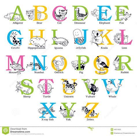 animal alphabet letters q u vector vectores en stock animal alphabet stock vector image of hippopotamus