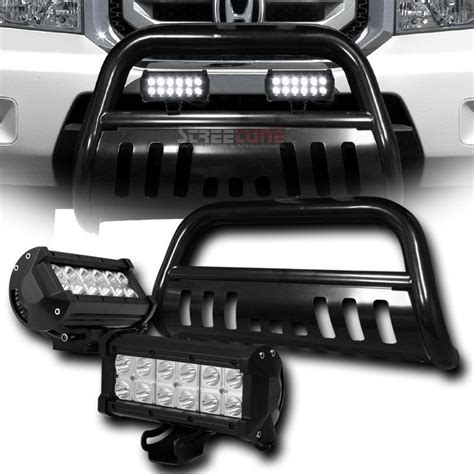 Bull Bar With Led Light Bar 2009 2015 Honda Pilot Front Bumper Bull Bar Guard Pair 36w Led Light Bar Black