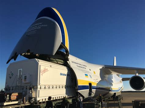 antonov airlines an 124 transports communications satellite to guiana air cargo world