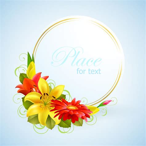 Free Wish Gift Card - flower greeting cards 01 vector free vector 4vector