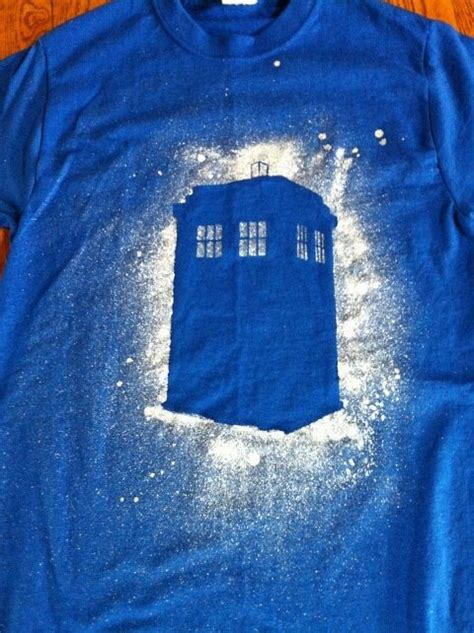 spray painting shirts with stencils made this tardis shirt today using a custom stencil and