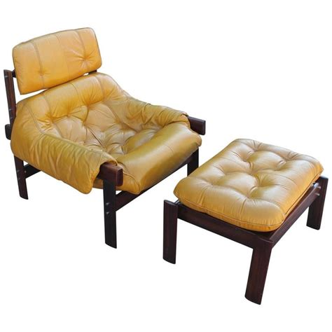 yellow chair with ottoman percival lafer brazilian mustard yellow lounge chair with