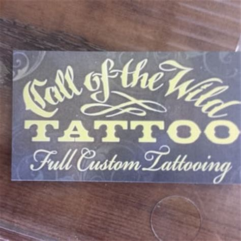 call of the wild tattoo call of the 180 e neider ave coeur