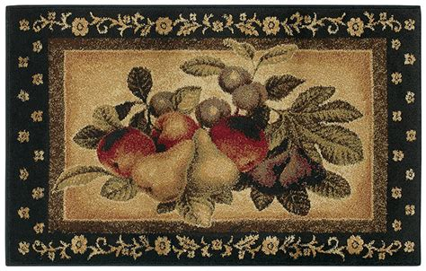 2 X 4 Kitchen Rug Shaw Multi 3x5 Kitchen Apples Pears Grapes Vine Area Rug Approx 2 6 Quot X 4 2 Quot Ebay