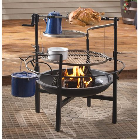 guide gear 174 cfire cooking station 155284 cookware