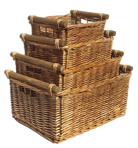 large wicker log basket storage logs firewood fireplace
